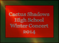 CCHS CHRISTMAS CONCERT 2014
